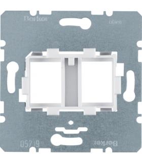 one.platform Płytka nośna podwójna z białym elementem mocującym, mechanizm Berker 454105