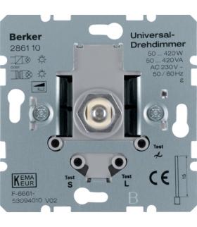 one.platform Ściemniacz uniwersalny z płynną regulacją 50-420 W, mechanizm Berker 286110