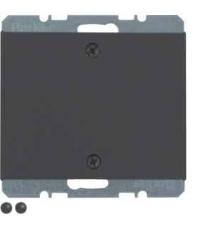 K.1 Zaślepka z płytką czołową i mocowaniem na śruby, antracyt mat, lakierowany Berker 10457106