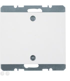 K.1 Zaślepka z płytką czołową i mocowaniem na śruby, biały Berker 10457109