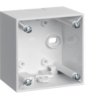 Integro Flow Puszka natynkowa 1-krotna wysoka, biały, połysk Berker 911512509