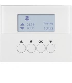 K.1 Łącznik żaluzjowy czasowy z wyświetlaczem do sterownika żaluzjowego Berker.Net, biały, połysk Berker 85741179