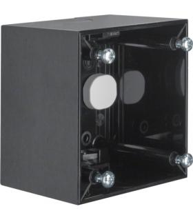 Integro Flow Puszka natynkowa 1-krotna wysoka, czarny, połysk Berker 911512510