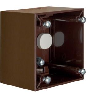 Integro Flow Puszka natynkowa 1-krotna wysoka, brązowy, połysk Berker 911512511
