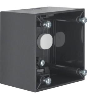 Integro Flow Puszka natynkowa 1-krotna wysoka, antracyt, połysk Berker 911512515
