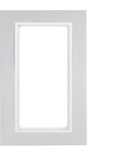 B.7 Ramka z dużym wycięciem, aluminium/biały mat Berker 13096914