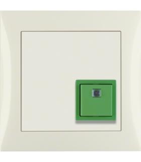 B.Kwadrat/S.1 System przywoławczy Przycisk anulowania z ramką, kremowy połysk Berker 52018982