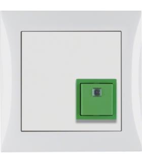 B.Kwadrat/S.1 System przywoławczy Przycisk anulowania z ramką, biały połysk Berker 52018989