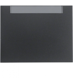 K.1 Klawisz z polem opisowym do łącznika 1-klawiszowego, antracyt mat, lakierowany Berker 14267006