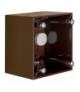 Integro Flow Puszka natynkowa 1-krotna wysoka, brązowy, połysk Berker 911512501