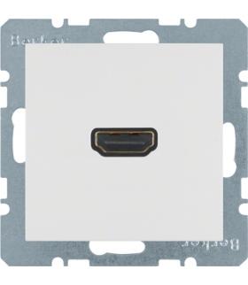 B.x/S.1 Gniazdo HDMI z przyłączem 90°, biały, połysk Berker 3315438989