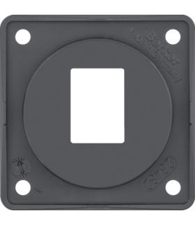 Integro Flow Płytka nośna 1-krotna do gniazd modularnych AMP, antracyt, połysk Berker 945572505