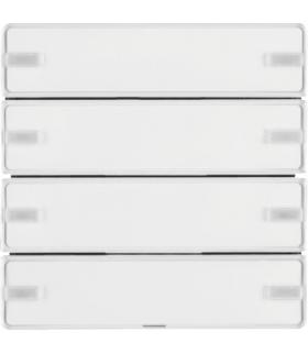 KNX e/s Q.x Przycisk 4-kr z polem opis., diod. LED RGB i czuj. temp., biały