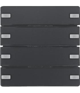 KNX e/s Q.x Przycisk 4-kr z polem opis., diod. LED RGB i czuj. temp., antracyt