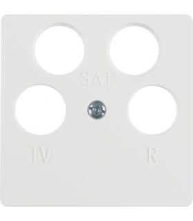 Q.x/S.1/B.3/B.7 Płytka czołowa do gniazda antenowego 4-wyjściowego, biały, mat Berker 14841909