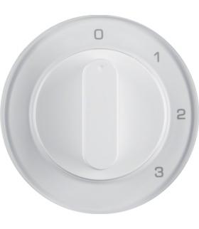 R.1/R.3 Płytka czołowa z pokrętłem do łącznika 3-pozycyjnego z pozycją zerową, biały, połysk Berker 10962089