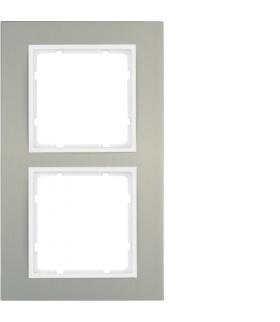 B.3 Ramka 2-krotna, alu/biały Berker 10123904