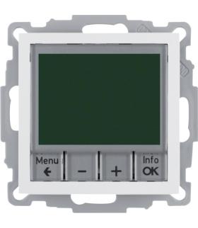 B.Kwadrat Regulator temperatury ze sterowaniem czasowym ze stykiem zwiernym i elementem centralnym, biały Berker 20448989
