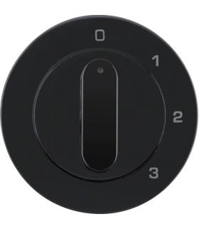 R.1/R.3 Płytka czołowa z pokrętłem do łącznika 3-pozycyjnego z pozycją zerową, czarny, połysk Berker 10962045