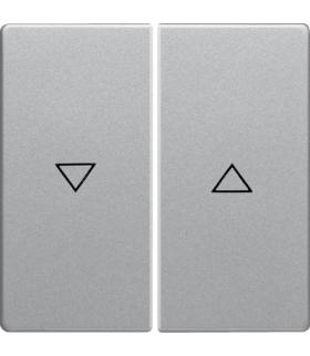 """Q.x Klawisze z nadrukiem symbolu """"strzałka"""" do łącznika 2-klawiszowego, alu aksamit, lakierowany Berker 16256084"""