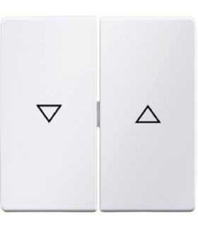 """Q.x Klawisze z nadrukiem symbolu """"strzałka"""" do łącznika 2-klawiszowego, biały, aksamit Berker 16256089"""