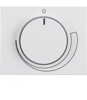 K.1 Płytka czołowa z pokrętłem regulacyjnym do regulatora obrotów, biały Berker 11357209
