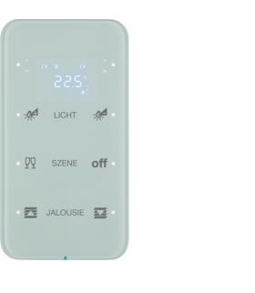 R.1 Sensor dotykowy 3-krotny z reg. temp. konfigurowalny, szkło, biały