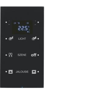 R.3 Sensor dotykowy 3-krotny z reg. temp. konfigurowalny, szkło, czarny