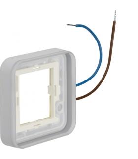 W.1 Ramka 1-kr z podświetleniem białym 12-24V 0,6 mA do adaptera n/t, IP55 Berker 13383502