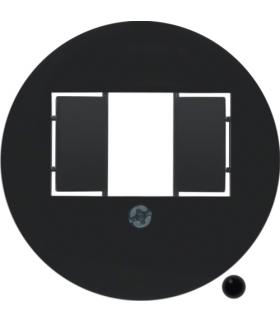 Serie 1930/Glas Płytka czołowa do gniazda głośnikowego i ładowania USB, czarny Berker 104001