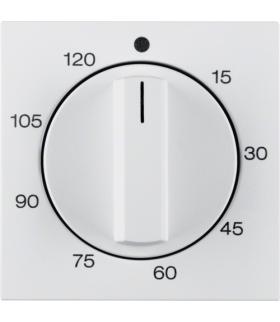 S.1/B.3/B.7 Płytka czołowa z pokrętłem regulacyjnym do mechanicznego łącznika czasowego 120 min, biały Berker 16331909
