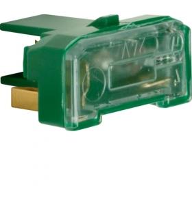 Akcesoria osprzęt Wkładka żarowa z zaciskiem neutralnym, mechanizm, zielony Berker 167601