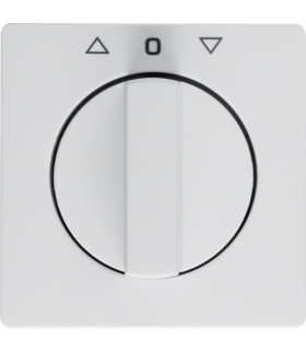 Q.x Płytka czołowa z pokrętłem do łącznika żaluzjowego obrotowego, biały, aksamit Berker 10806089