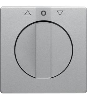 Q.x Płytka czołowa z pokrętłem do łącznika żaluzjowego obrotowego, alu aksamit, lakierowany Berker 10806084