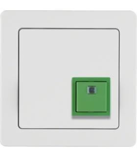 Q.1 System przywoławczy Przycisk anulowania z ramką, biały aksamit Berker 52016089