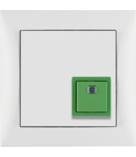 Q.3 System przywoławczy Przycisk anulowania z ramką, biały aksamit Berker 52016099