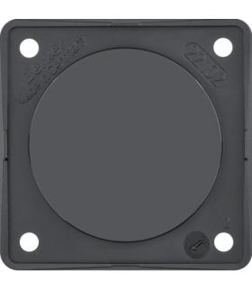 Integro Flow Zaślepka z płytką nośną, czarny, połysk Berker 945162510