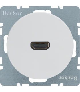 R.1/R.3 Gniazdo HDMI biały, połysk Berker 3315422089