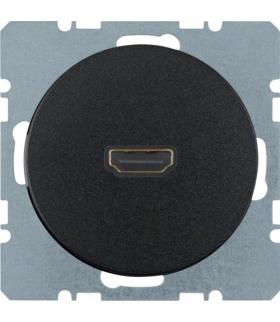 R.1/R.3 Gniazdo HDMI czarny, połysk Berker 3315422045