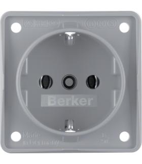 Integro Flow Gniazdo SCHUKO, szary, mat Berker 941852506