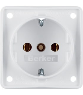 Integro Flow Gniazdo SCHUKO, biały, mat Berker 941852502