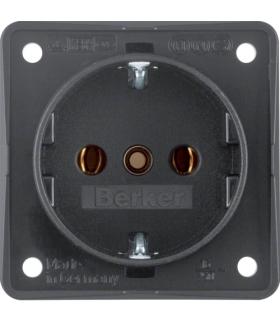 Integro Flow Gniazdo SCHUKO, antracyt, mat Berker 941852505