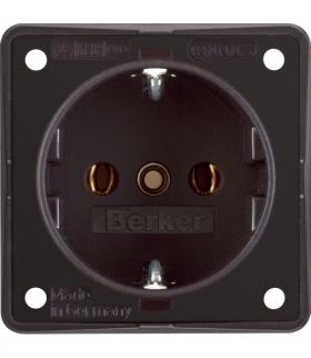 Integro Flow Gniazdo SCHUKO, brązowy, mat Berker 941852501