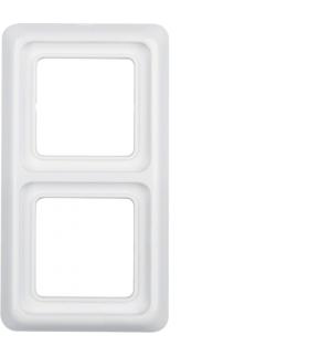 IP44 Ramka 2-krotna z uszczelką, biały, p/t Berker 132909