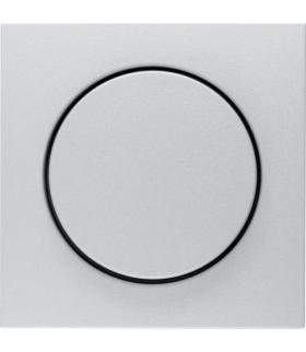 B.Kwadrat/B.7 Płytka czołowa z pokrętłem regulacyjnym do ściemniacza obrotowego, alu mat, lakierowany Berker 11371404