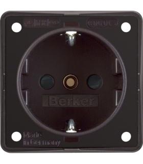 Integro Flow Gniazdo SCHUKO z podwyższoną ochroną styków, brązowy, mat Berker 941952501