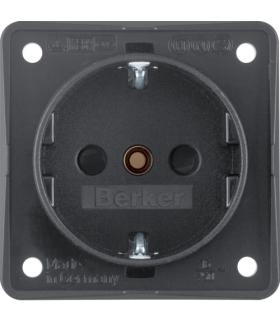 Integro Flow Gniazdo SCHUKO z podwyższoną ochroną styków, antracyt, mat Berker 941952505