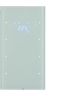 R.3 Sensor dotykowy 3-krotny z reg. temp., szkło,  biały