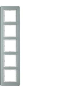 Q.7 Ramka 5-krotna, szkło, biały Berker 10156079