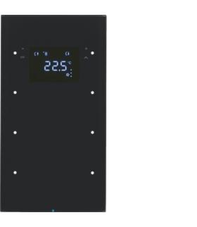 R.3 Sensor dotykowy 3-krotny z reg. temp., szkło, czarny